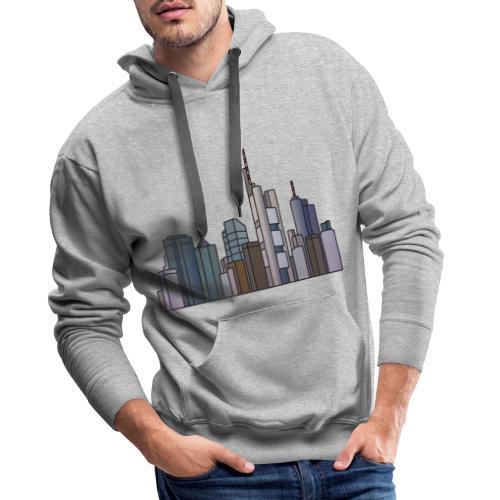 Città di Francoforte c - Felpa con cappuccio premium da uomo