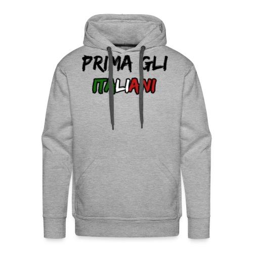 #PRIMA GLI ITALIANI [Mr. Salviny] - Felpa con cappuccio premium da uomo