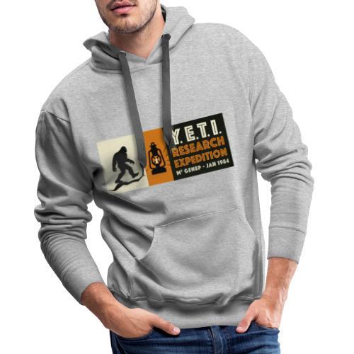 A la recherche du Yeti - Sweat-shirt à capuche Premium pour hommes