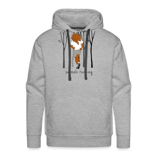 Lion running - Sweat-shirt à capuche Premium pour hommes