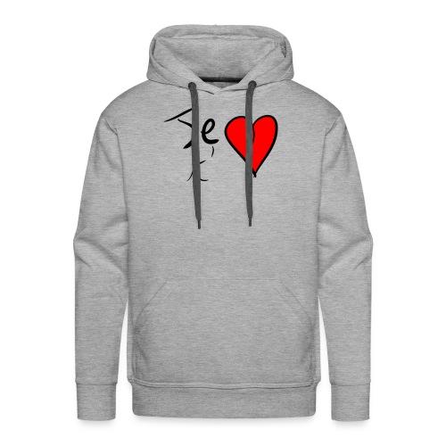 Je t'aime Saint Valentin - Sweat-shirt à capuche Premium pour hommes