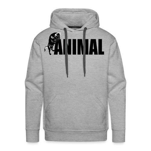animal palestra - Felpa con cappuccio premium da uomo