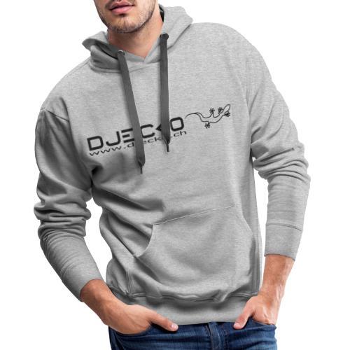 Logo rect noir txt et gecko - Sweat-shirt à capuche Premium pour hommes