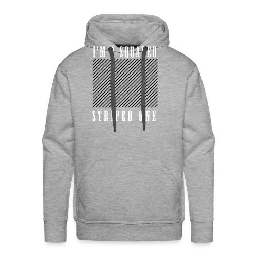 striped squared - Sweat-shirt à capuche Premium pour hommes
