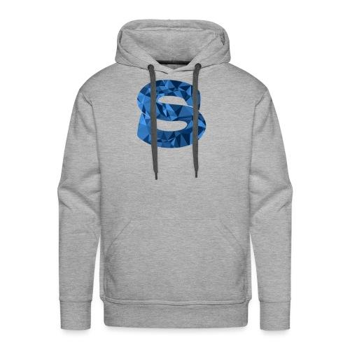 Blue trianglular design - Men's Premium Hoodie