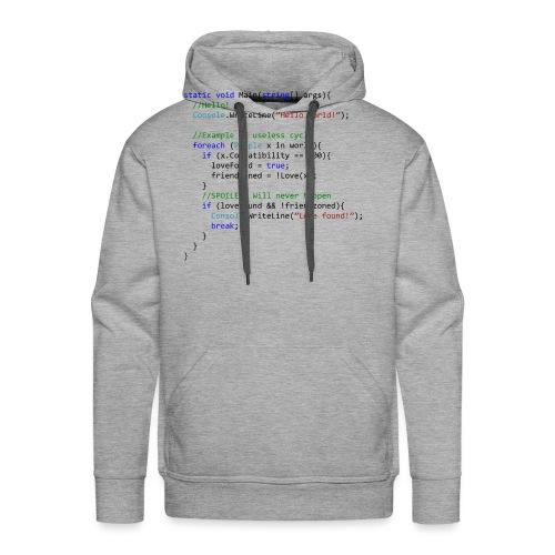 Love seen by a C# programmer - Felpa con cappuccio premium da uomo