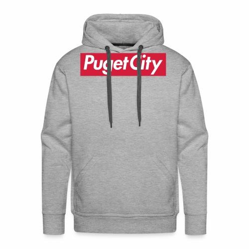PugetCity - Sweat-shirt à capuche Premium pour hommes
