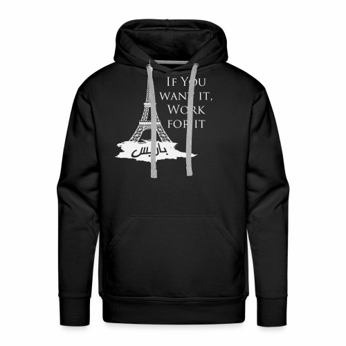 Paris dream work - Sweat-shirt à capuche Premium pour hommes
