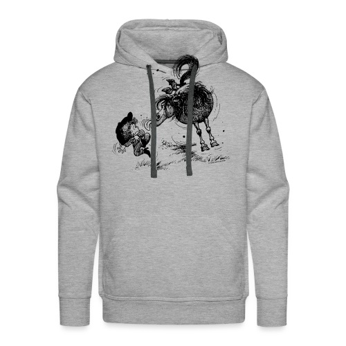Thelwell 'Pony sticks out his tounge. - Männer Premium Hoodie