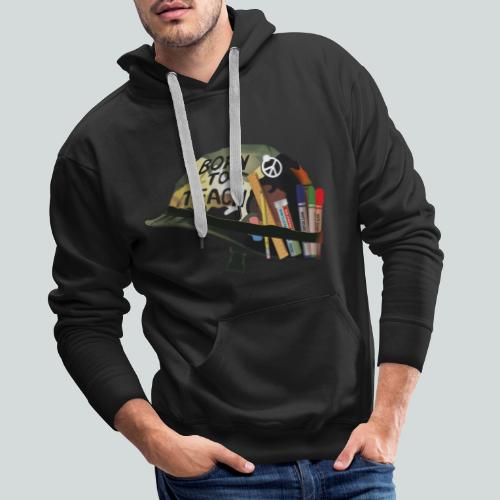 Born to teach - AAS - Sweat-shirt à capuche Premium pour hommes