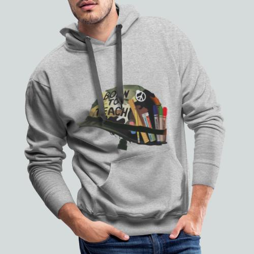 Born to teach - AAS - Sweat-shirt à capuche Premium pour hommes