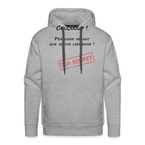 tshirt secret lesbienne - Sweat-shirt à capuche Premium pour hommes