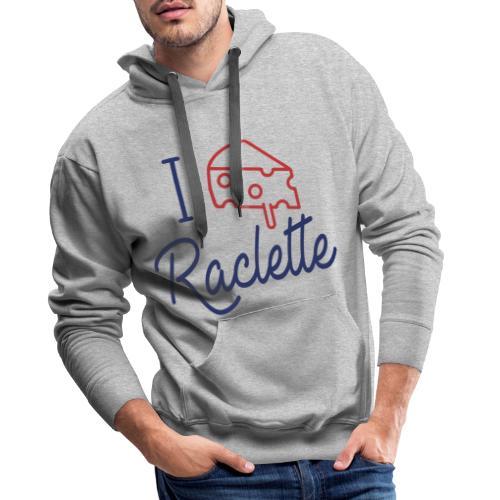 I LOVE RACLETTE - Sweat-shirt à capuche Premium pour hommes