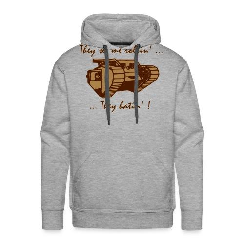 Char joyeux - Sweat-shirt à capuche Premium pour hommes