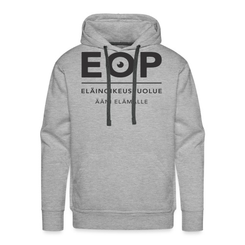 EOP Logo slogan musta - Miesten premium-huppari