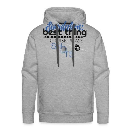 Simulation: - Sweat-shirt à capuche Premium pour hommes