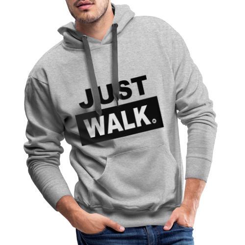 JUST WALK hoodie - Mannen Premium hoodie