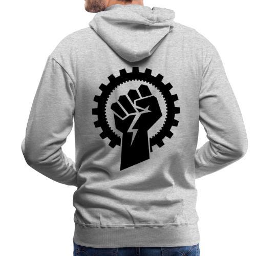 Black MMM logo + Resistance - Herre Premium hættetrøje