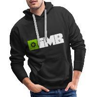 IMB Logo (plain) - Men's Premium Hoodie black