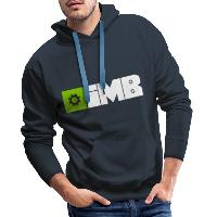 IMB Logo (plain) - Men's Premium Hoodie navy