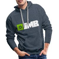 IMB Logo (plain) - Men's Premium Hoodie - heather denim