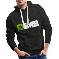 IMB Logo (plain) - Men's Premium Hoodie charcoal grey