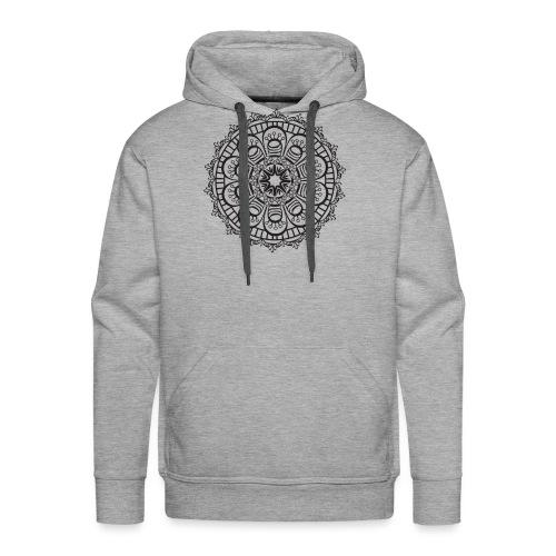 Mandala 3 - Sweat-shirt à capuche Premium pour hommes
