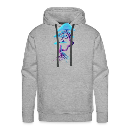 Tree design light blue and pink - Men's Premium Hoodie
