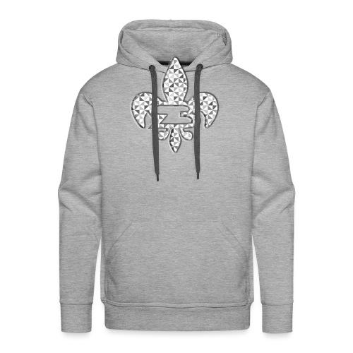 Rnbarber Geometric - Sweat-shirt à capuche Premium pour hommes