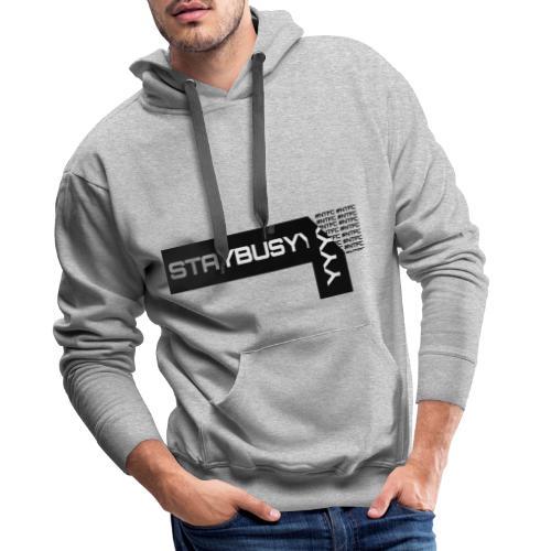 Schwarze Abgezogene StayBusy Folie - Männer Premium Hoodie