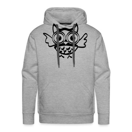 Chouette Hugo - Sweat-shirt à capuche Premium pour hommes