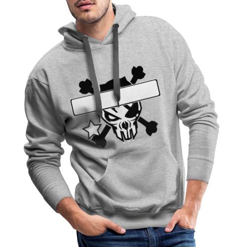 Cool skull design - put in your own text - Mannen Premium hoodie