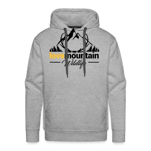 Mountain - Felpa con cappuccio premium da uomo