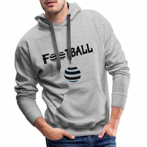 Du football en noir et blanc - Sweat-shirt à capuche Premium pour hommes