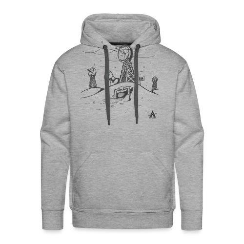 ligne de base arctique croquis - Sweat-shirt à capuche Premium pour hommes