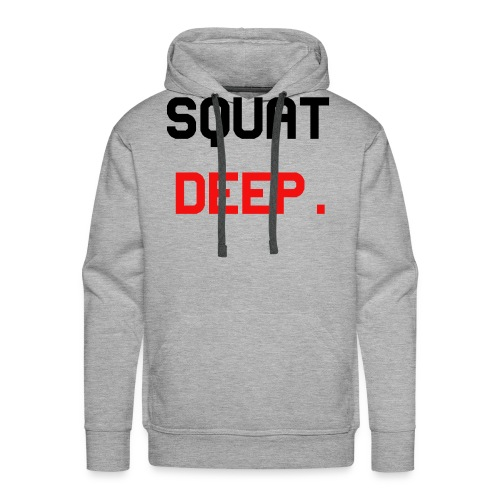 SquatDeep. - Fitness Gym Training - Männer Premium Hoodie