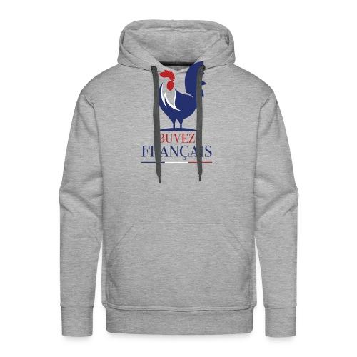 Buvez Français! - Sweat-shirt à capuche Premium pour hommes