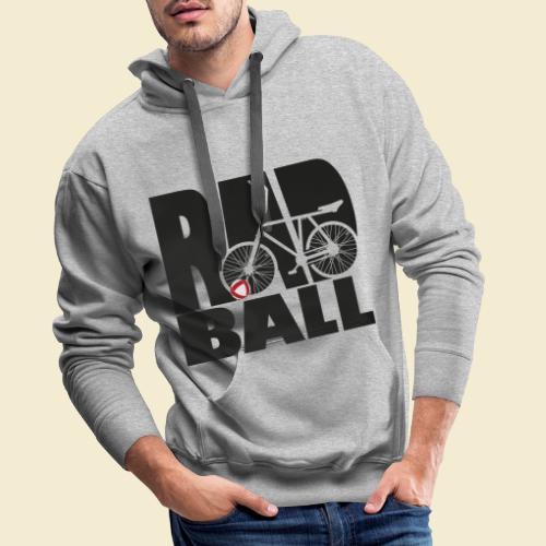 Radball   Typo Black - Männer Premium Hoodie