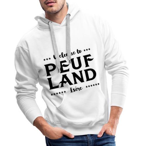 Peuf Land 38 - Isère - Black - Sweat-shirt à capuche Premium pour hommes