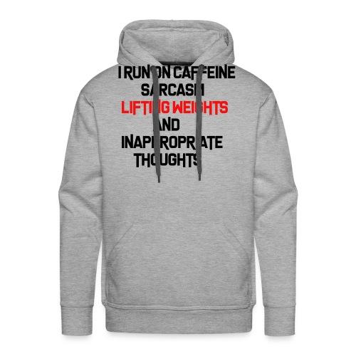 Caffeine Sarcasm Weight Shirt Bodybuilding Fitness - Männer Premium Hoodie