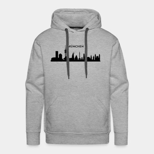 München Skyline - Männer Premium Hoodie