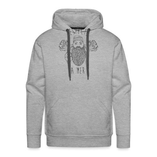 respecte ta mer - Marin - Sweat-shirt à capuche Premium pour hommes