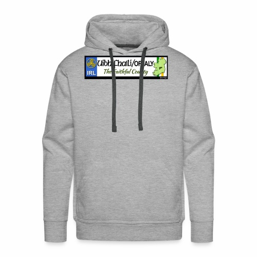 CO. OFFALY, IRELAND: licence plate tag style decal - Men's Premium Hoodie