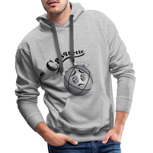 petanque casquette tireur amusant fond clair - Sweat-shirt à capuche Premium pour hommes