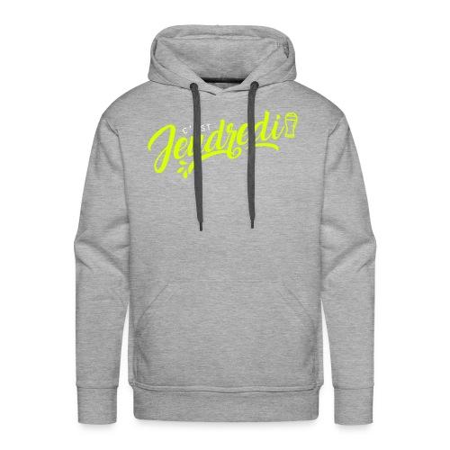 jeudredi - Sweat-shirt à capuche Premium pour hommes