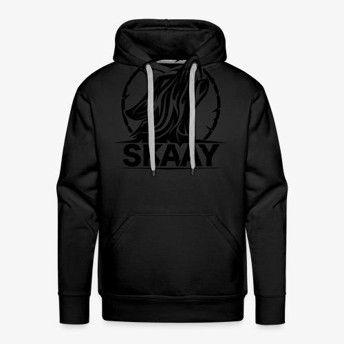 Skaay Logo Schwarz GeniyArts Vektor - Männer Premium Hoodie