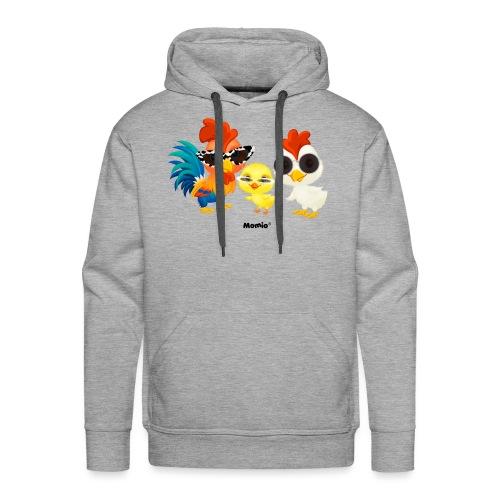 Kurczak - autorstwa Momio Designer Emeraldo. - Bluza męska Premium z kapturem