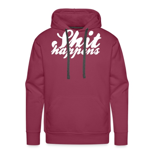 Shit Happens and Politics - Men's Premium Hoodie
