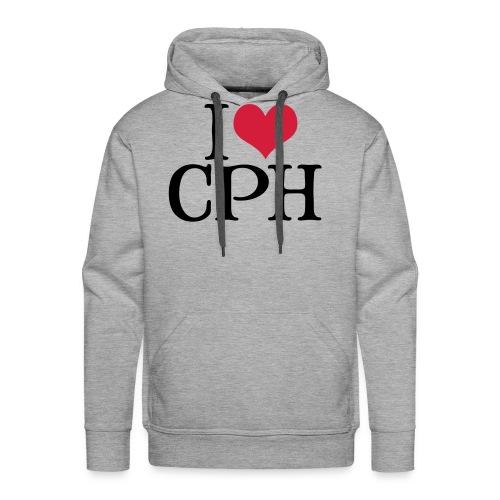 I Love CPH - Herre Premium hættetrøje