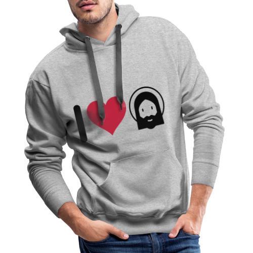 I LOVE JESUS - Men's Premium Hoodie